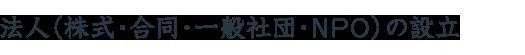 法人(株式・合同・一般社団・NPO)の設立